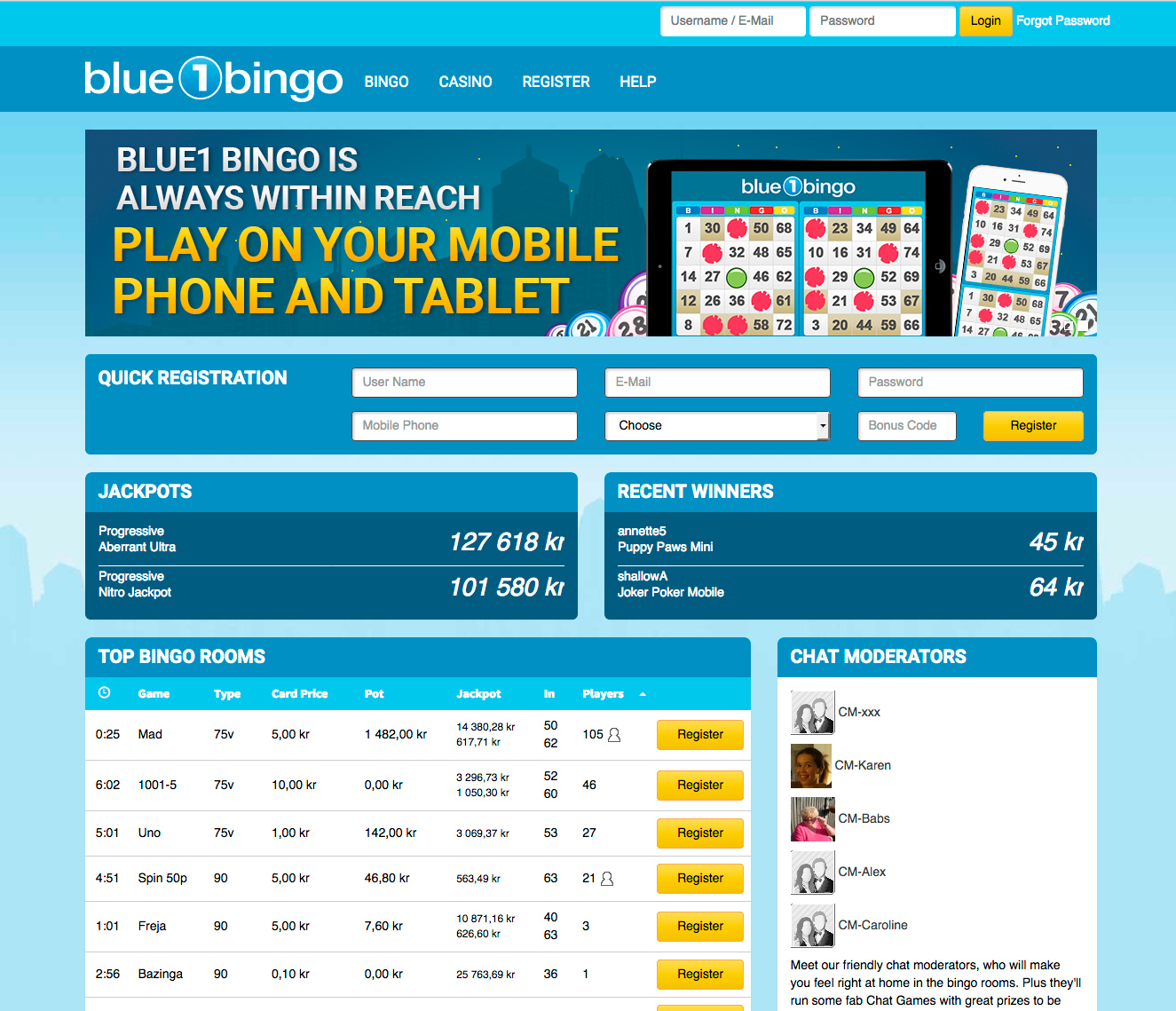 Blue1 Bingo Review