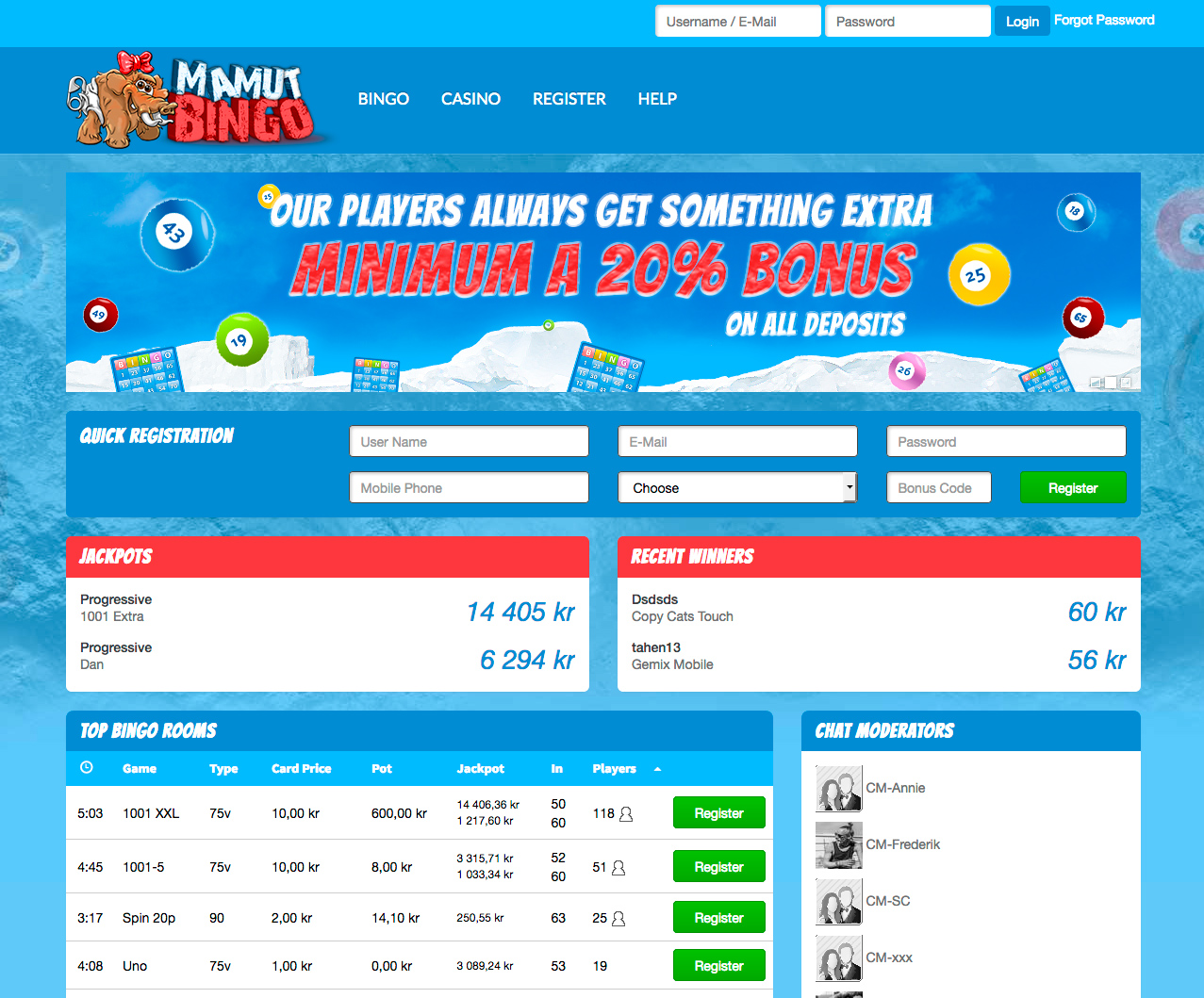 Mamut Bingo Review